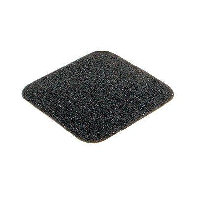 Černá korundová protiskluzová páska (dlaždice) pro nerovné povrchy - délka 14 cm a šířka 14 cm - 10 ks FLOMAT