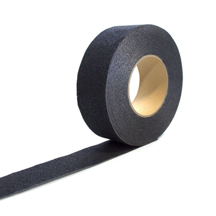 Černá korundová protiskluzová páska pro nerovné povrchy - délka 18,3 m a šířka 5 cm FLOMAT