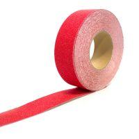Červená korundová protiskluzová páska - délka 18,3 m a šířka 5 cm