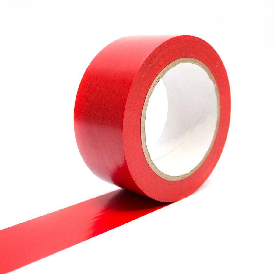Červená podlahová vyznačovací páska - délka 33 m a šířka 5 cm FLOMAT