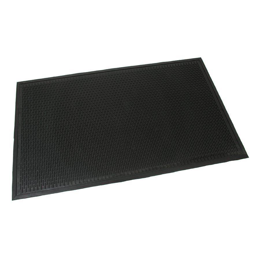 Gumová průmyslová protiúnavová protiskluzová rohož Scraper, FLOMAT - délka 90 cm, šířka 150 cm a výška 0,6 cm