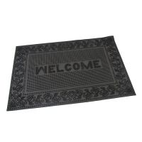 Gumová vstupní kartáčová rohož Welcome - Leaves - 60 x 40 x 0,6 cm
