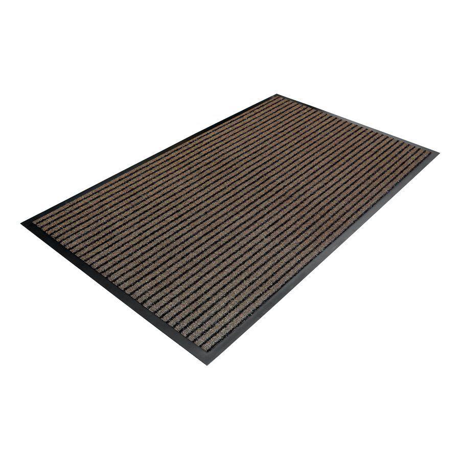 Hnědá textilní vstupní vnitřní čistící rohož - délka 90 cm, šířka 150 cm a výška 0,7 cm FLOMAT