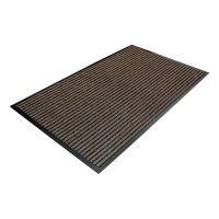Hnědá textilní čistící vnitřní vstupní rohož - 90 x 60 x 0,7 cm