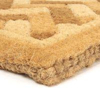 Kokosová vstupní venkovní čistící rohož Bricks - Deco, FLOMAT - délka 45 cm, šířka 75 cm a výška 4,7 cm