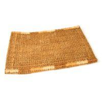 Kokosová vstupní venkovní čistící rohož Squares, FLOMAT - délka 45 cm, šířka 75 cm a výška 4,7 cm