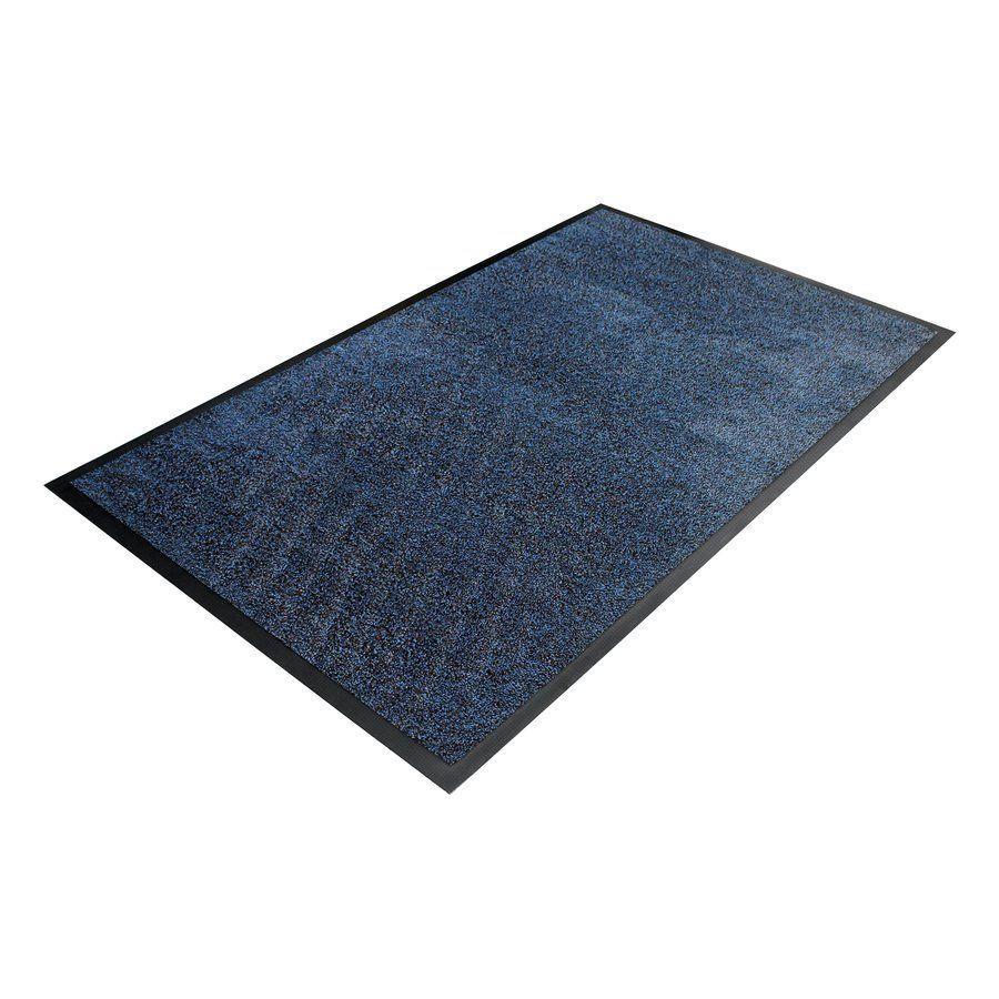 Modrá textilní vstupní vnitřní čistící rohož - délka 85 cm, šířka 150 cm a výška 0,9 cm FLOMAT