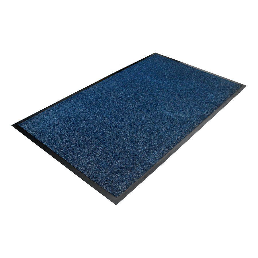 Modrá textilní vstupní vnitřní čistící rohož - délka 90 cm, šířka 150 cm a výška 0,7 cm FLOMAT