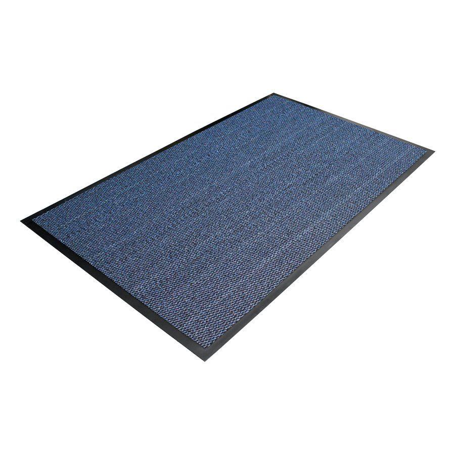 Modrá textilní čistící vnitřní vstupní rohož - délka 60 cm, šířka 90 cm a výška 0,7 cm FLOMAT