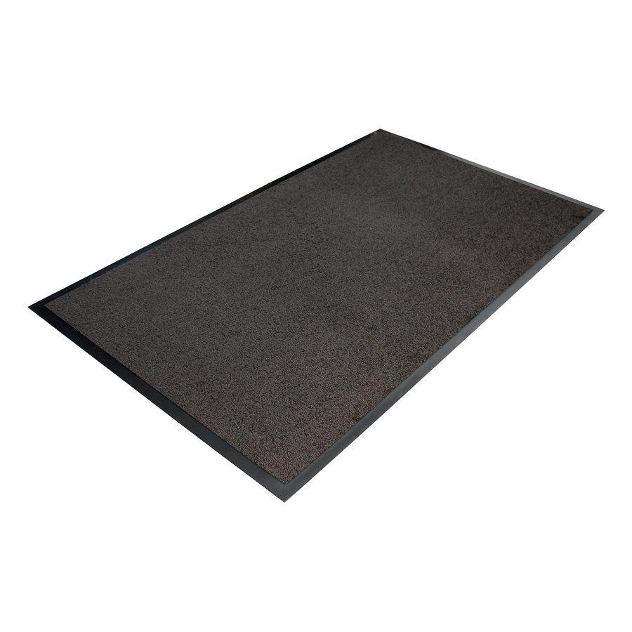 Šedá textilní vstupní vnitřní čistící rohož - délka 120 cm, šířka 180 cm a výška 0,7 cm FLOMAT