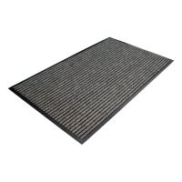 Šedá textilní čistící vnitřní vstupní rohož - 90 x 60 x 0,7 cm