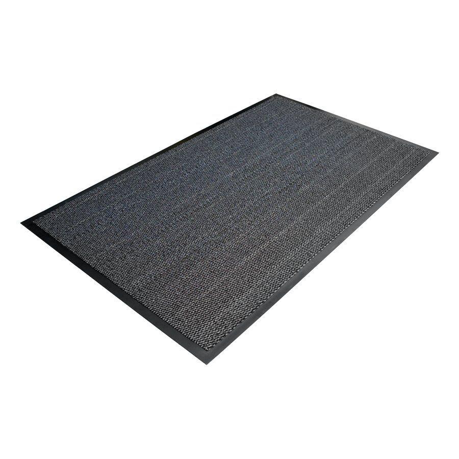 Šedá textilní čistící vnitřní vstupní rohož - délka 60 cm, šířka 90 cm a výška 0,7 cm FLOMAT
