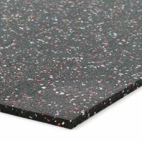 Černo-bílo-červená gumová modulová dlažba (deska) FLOMA SF1050 FitFlo - 98 x 98 x 0,8 cm