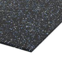Černo-bílo-modrá gumová modulová dlažba (deska) FLOMA SF1050 FitFlo - 98 x 98 x 0,8 cm