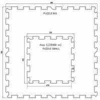 Červená gumová modulová puzzle dlažba (roh) FLOMA SportFlo S800 - délka 47,8 cm, šířka 47,8 cm a výška 2,5 cm