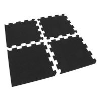 Gumová modulová puzzle dlažba s umělým trávníkem (střed) FLOMA SportFlo S800 - délka 47,8 cm, šířka 47,8 cm a výška 2,5 cm