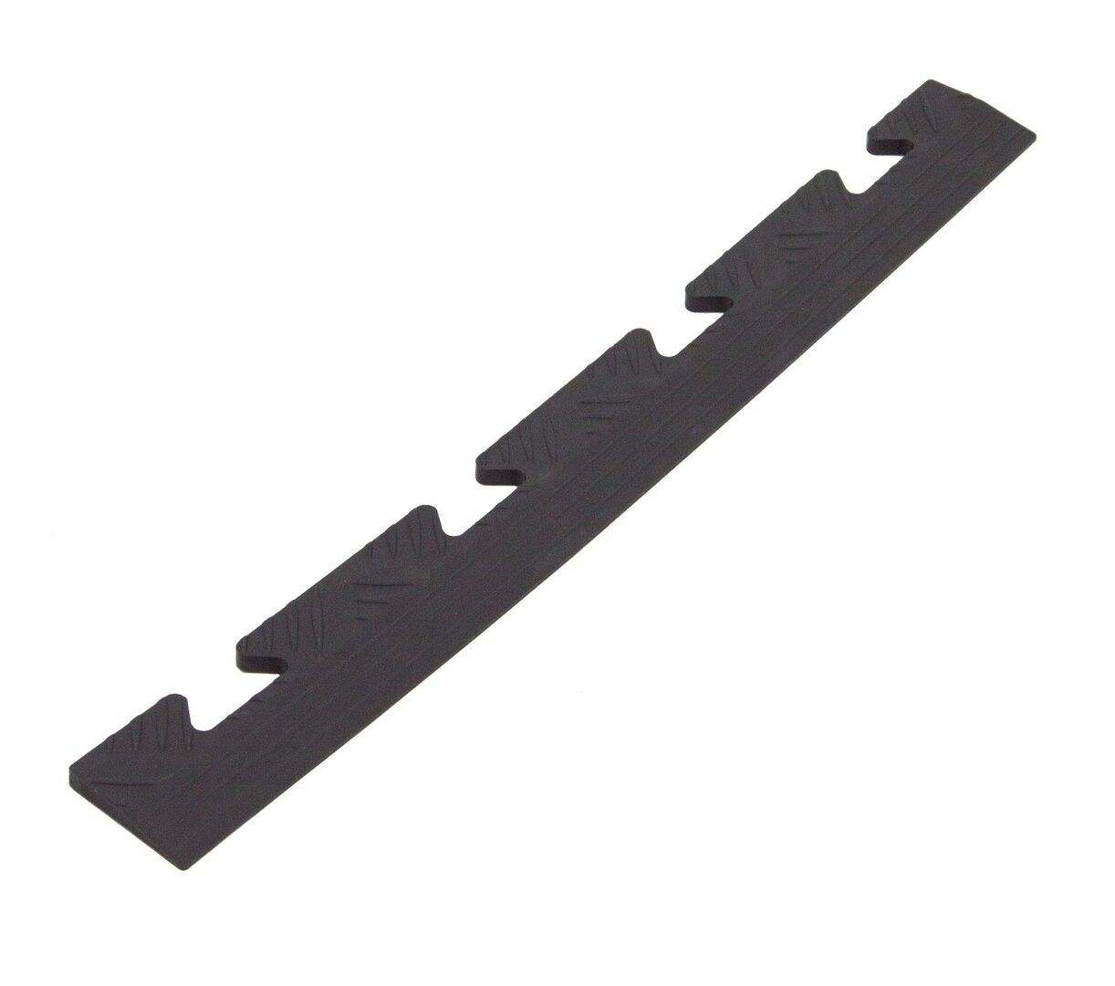 """Černý plastový nájezd """"samice"""" Tenax - délka 48 cm, šířka 5,1 cm a výška 0,8 cm"""