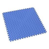 Modrá plastová vinylová zátěžová puzzle dlaždice Tenax - délka 50 cm, šířka 50 cm a výška 0,5 cm