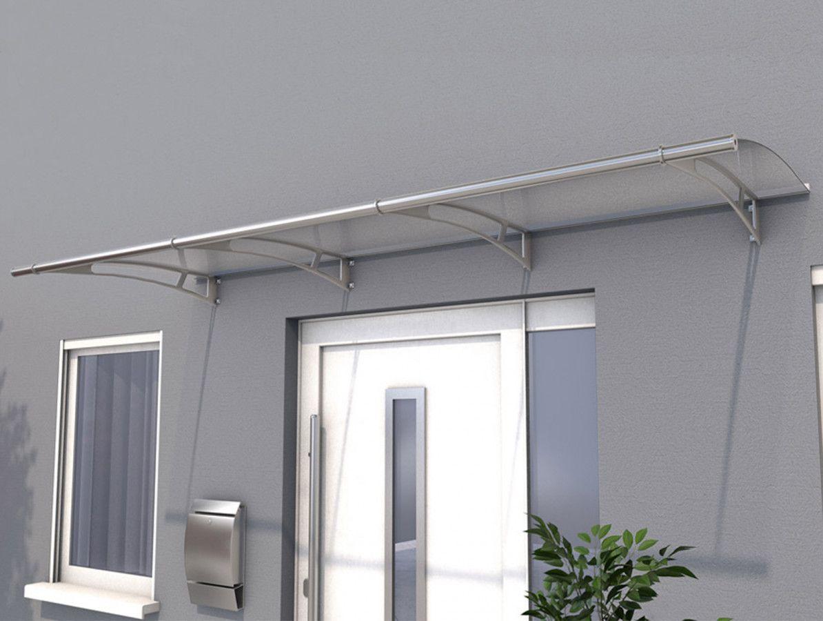 Vchodová stříška Guttavordach PT/L 270 x 95 cm nerez /čirý polykarbonát