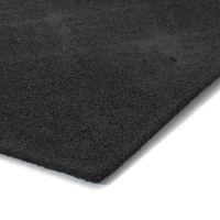 Hnědá textilní gumová čistící vstupní rohož FLOMA Parquet - délka 45 cm a šířka 75 cm