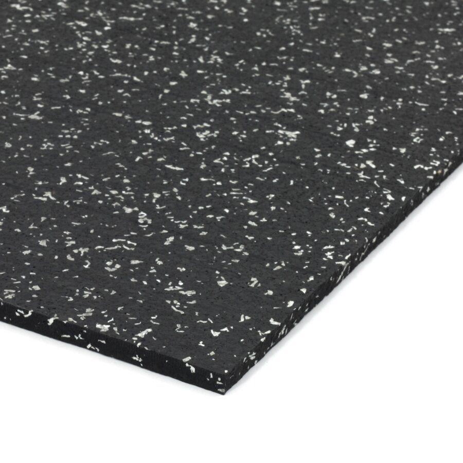 Černo-bílá gumová dlažba (deska) FLOMA IceFlo SF1100 - délka 198 cm, šířka 98 cm a výška 0,8 cm