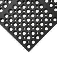 Černá gumová protiskluzová protiúnavová průmyslová modulární rohož COBA Deluxe - 150 x 100 x 1,9 cm
