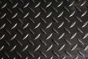 Černá gumová modulární průmyslová protiskluzová rohož Comfort-Lok - délka 70 cm, délka 80 cm a výška 1,25 cm FLOMAT