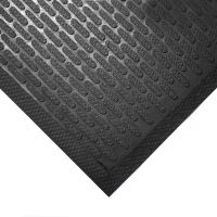 Černá gumová protiskluzová průmyslová rohož - 150 x 85 x 0,6 cm