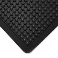 Černá gumová protiúnavová průmyslová modulární rohož (25% nitrilová pryž) - 90 x 60 x 1,4 cm