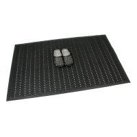Gumová vstupní děrovaná čistící rohož Waves, FLOMAT - délka 90 cm, šířka 150 cm a výška 1,2 cm