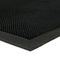 Gumová čistící venkovní vstupní rohož Rubber Brush, FLOMAT - délka 60 cm, šířka 90 cm a výška 1,2 cm