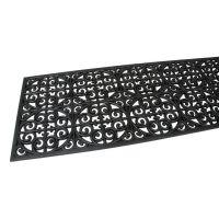 Gumová čistící venkovní vstupní rohož Circles - Deco, FLOMAT - délka 45 cm, šířka 120 cm a výška 0,9 cm