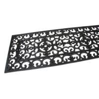 Gumová čistící venkovní vstupní rohož Deco, FLOMAT - délka 45 cm, šířka 120 cm a výška 1 cm