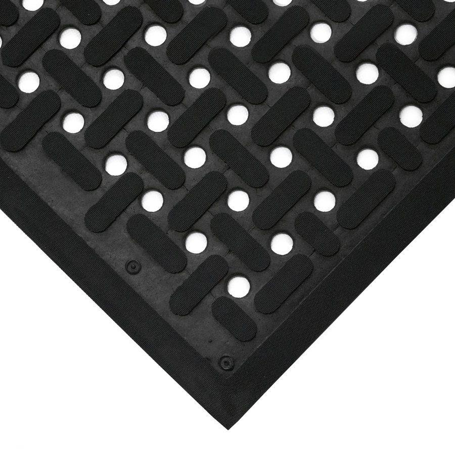 Černá gumová antibakteriální protiskluzová kuchyňská rohož (100% nitrilová pryž) - délka 150 cm, šířka 85 cm a výška 0,9 cm FLOMAT