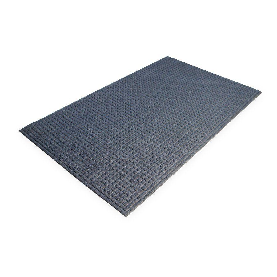 Modrá plastová vstupní vnitřní čistící rohož - délka 60 cm, šířka 90 cm a výška 1 cm FLOMAT