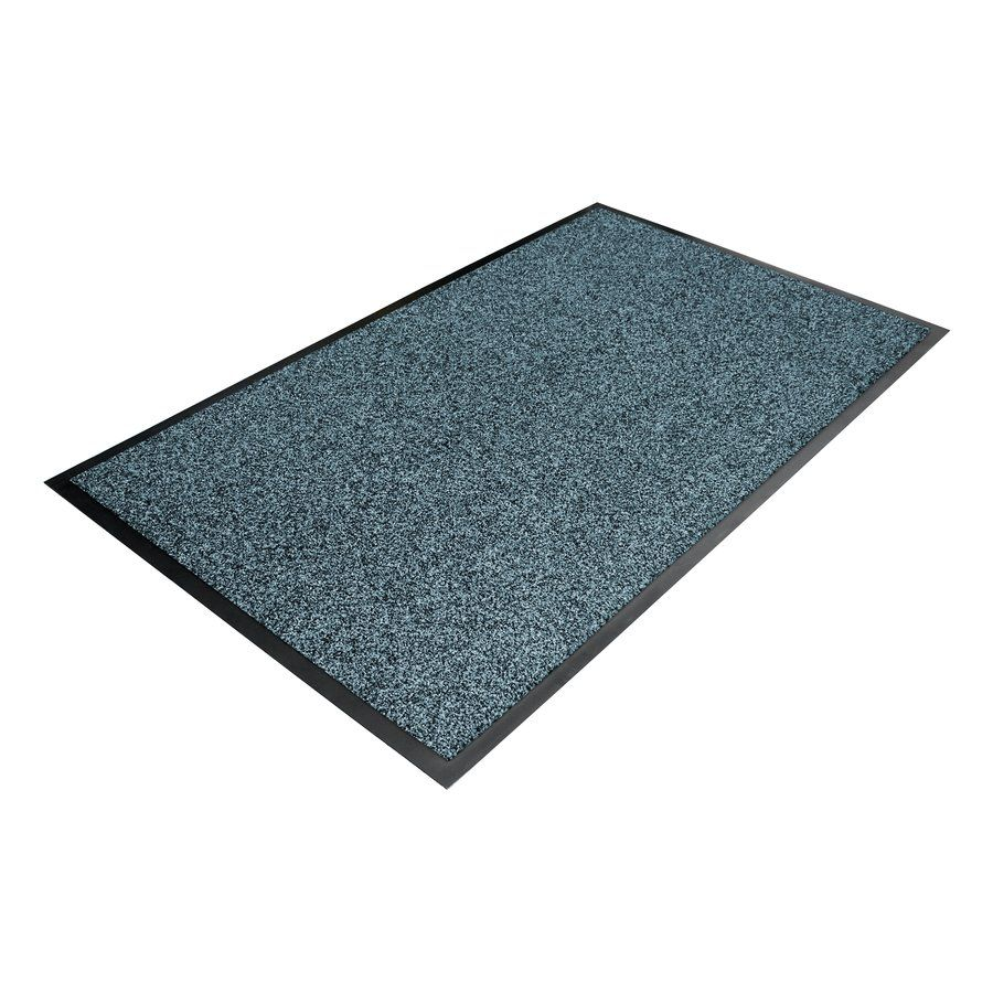 Modrá textilní vstupní vnitřní čistící rohož - délka 130 cm, šířka 200 cm a výška 1 cm FLOMAT