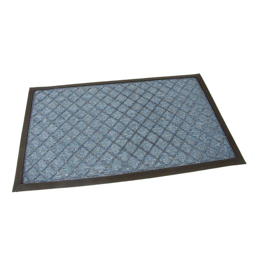 Modrá textilní vstupní venkovní čistící rohož Diamonds, FLOMAT - délka 45 cm, šířka 75 cm a výška 1 cm