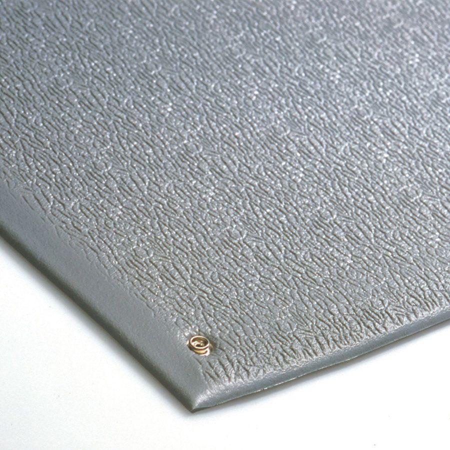 Šedá průmyslová protiúnavová ESD antistatická rohož - délka 90 cm, šířka 60 cm a výška 0,9 cm FLOMAT