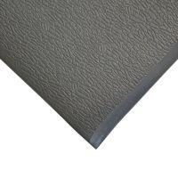 Šedá gumová protiskluzová protiúnavová průmyslová rohož - 18,3 m x 150 cm x 0,9 cm