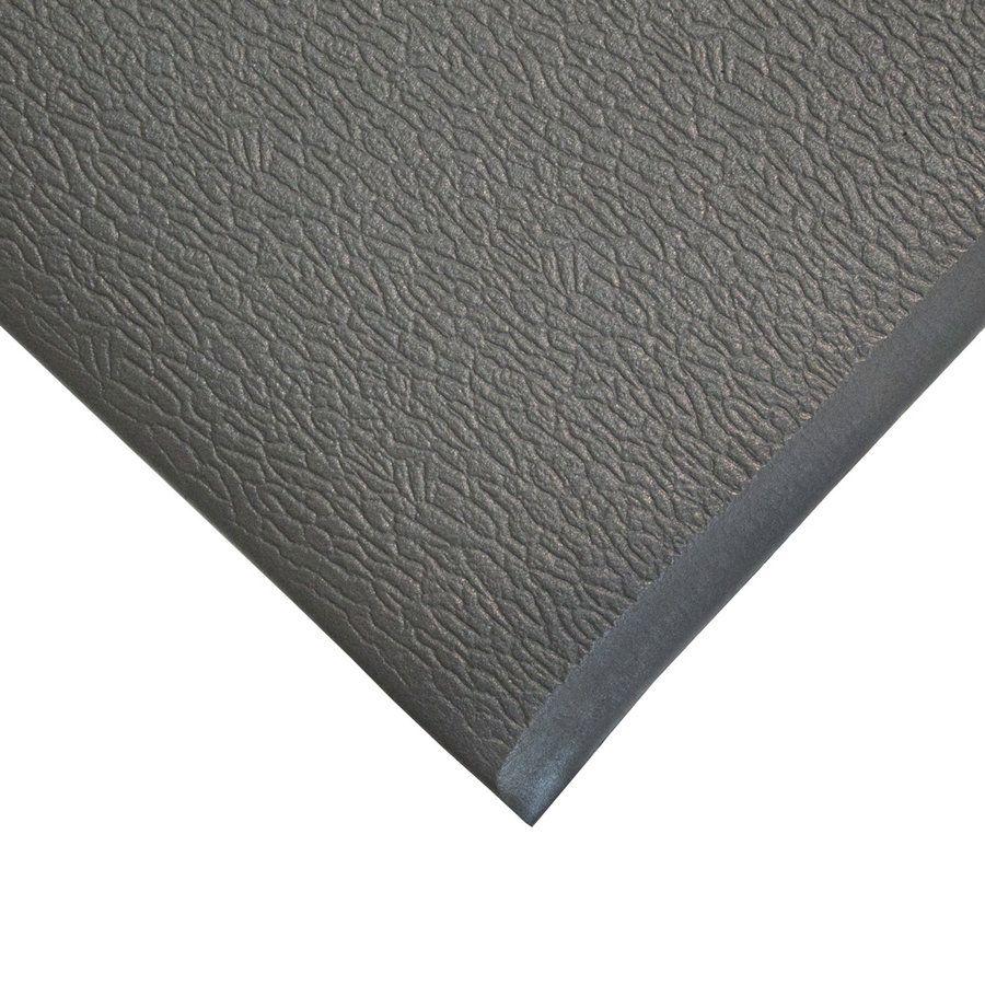 Šedá průmyslová protiúnavová protiskluzová pěnová rohož - délka 90 cm, šířka 60 cm a výška 0,9 cm FLOMAT