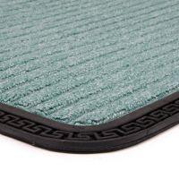 Zelená textilní vstupní venkovní čistící rohož Stripes, FLOMAT - délka 50 cm, šířka 80 cm a výška 0,8 cm