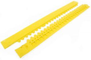 "Žlutá gumová náběhová hrana ""samec"" pro rohože Fatigue - 100 x 7,5 cm"