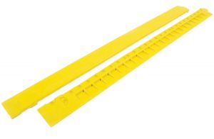 "Žlutá gumová náběhová hrana ""samice"" pro rohože Fatigue - 100 x 7,5 cm"