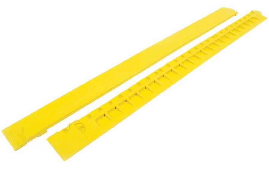 """Žlutá gumová náběhová hrana """"samice"""" pro rohože Fatigue - délka 100 cm a šířka 7,5 cm FLOMAT"""