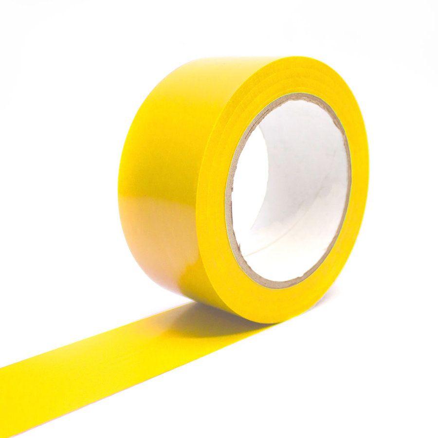 Žlutá podlahová vyznačovací páska Standard - délka 33 m a šířka 5 cm FLOMAT