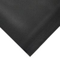 Černá gumová protiskluzová protiúnavová průmyslová rohož - 90 x 60 x 1 cm