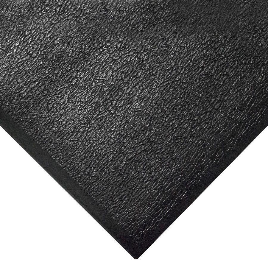 Černá gumová průmyslová protiúnavová rohož - délka 18,3 m, šířka 120 cm a výška 1,25 cm FLOMAT