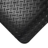 Černá gumová protiúnavová průmyslová rohož - 18,3 m x 90 cm x 1,4 cm