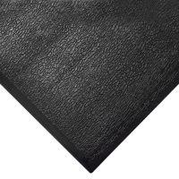 Černá gumová průmyslová protiúnavová rohož - délka 18,3 m, šířka 90 cm a výška 1,25 cm FLOMAT