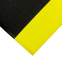 Černo-žlutá gumová protiskluzová protiúnavová průmyslová rohož - 90 x 60 x 0,9 cm